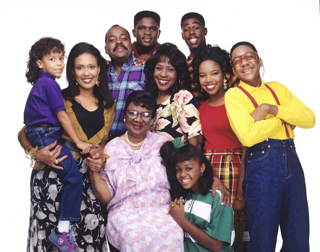 The cast of 'Family Matters' pose for a photo