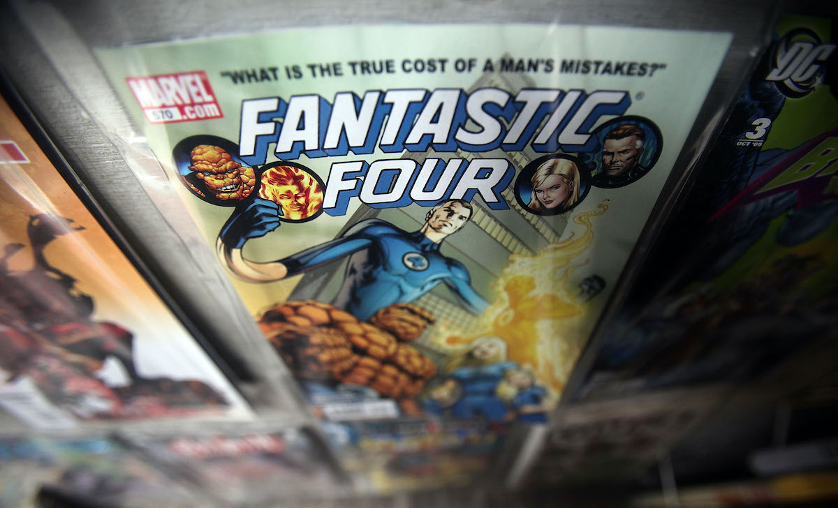 A Marvel 'Fantastic Four' comic book for sale at St. Mark's Comics in 2009