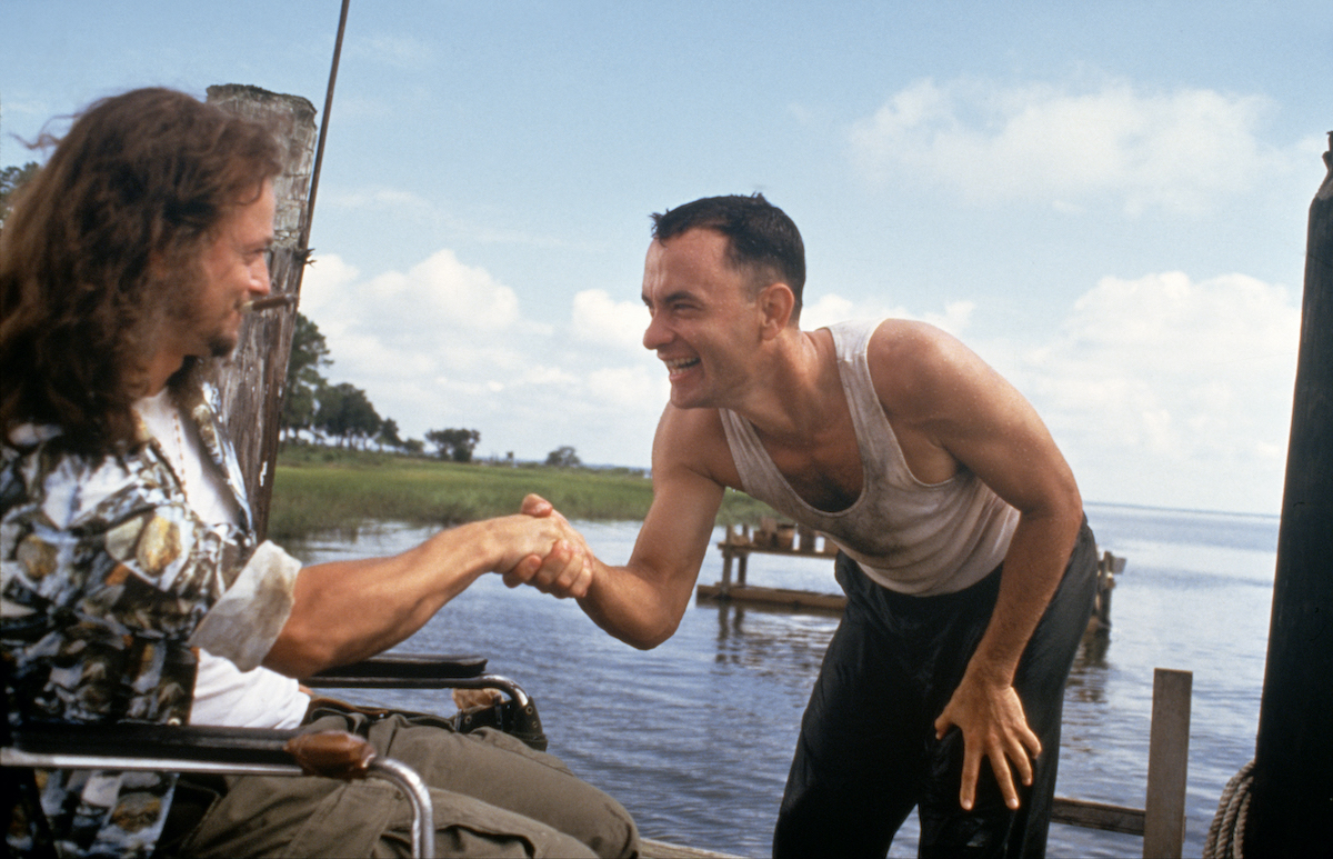 Gary Sinise and Tom Hanks in a scene from 'Forrest Gump'