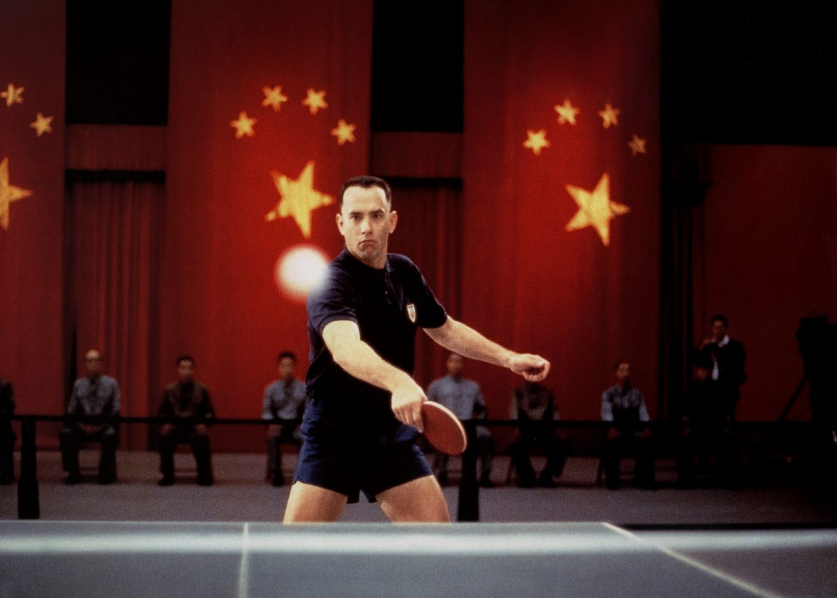 Forrest Gump playing table tennis