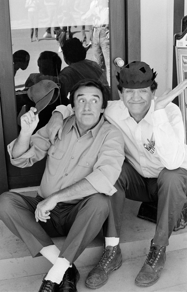 Jim Nabors and George Lindsey in 'Return to Mayberry,' circa 1986