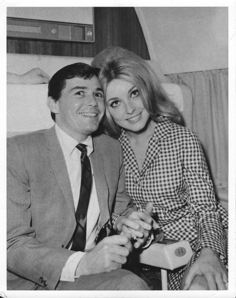 Two of the Manson Family's victims: celebrity hairstylist Jay Sebring and actor Sharon Tate in 1966