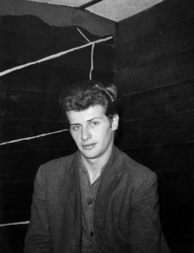 Pete Best in 1962 poses for a photo in Liverpool's Cavern Club