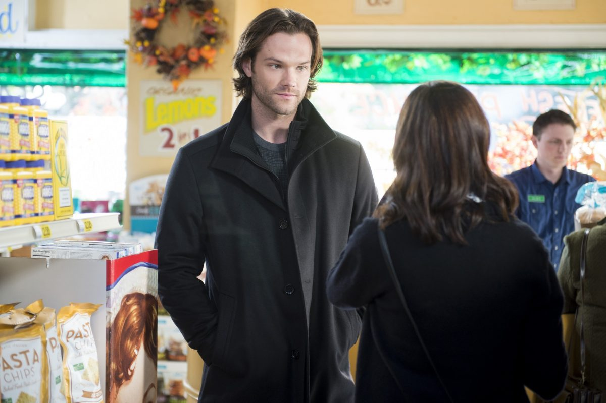 Dean Forrester and Rory Gilmore run into each other in Doose's Market in 'Gilmore Girls: A Year in the Life'