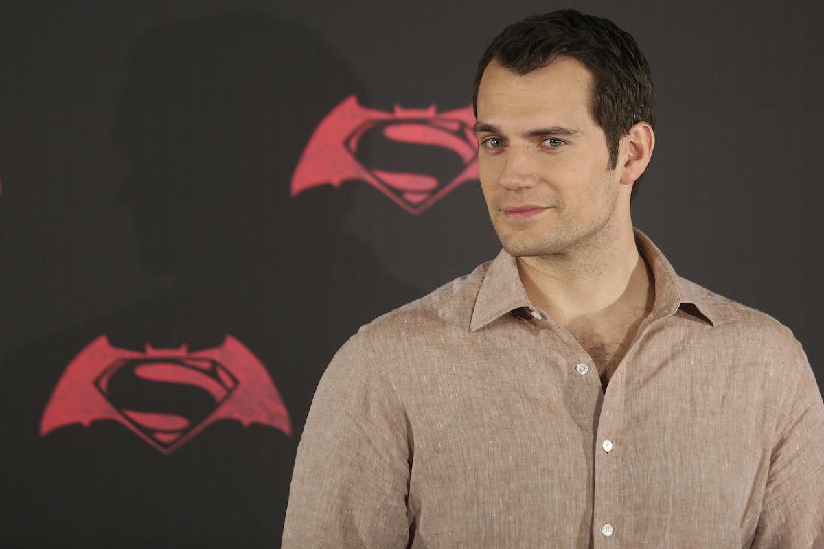 Henry Cavill poses for pictures at the 'Batman v Superman: Dawn of Justice' photocall