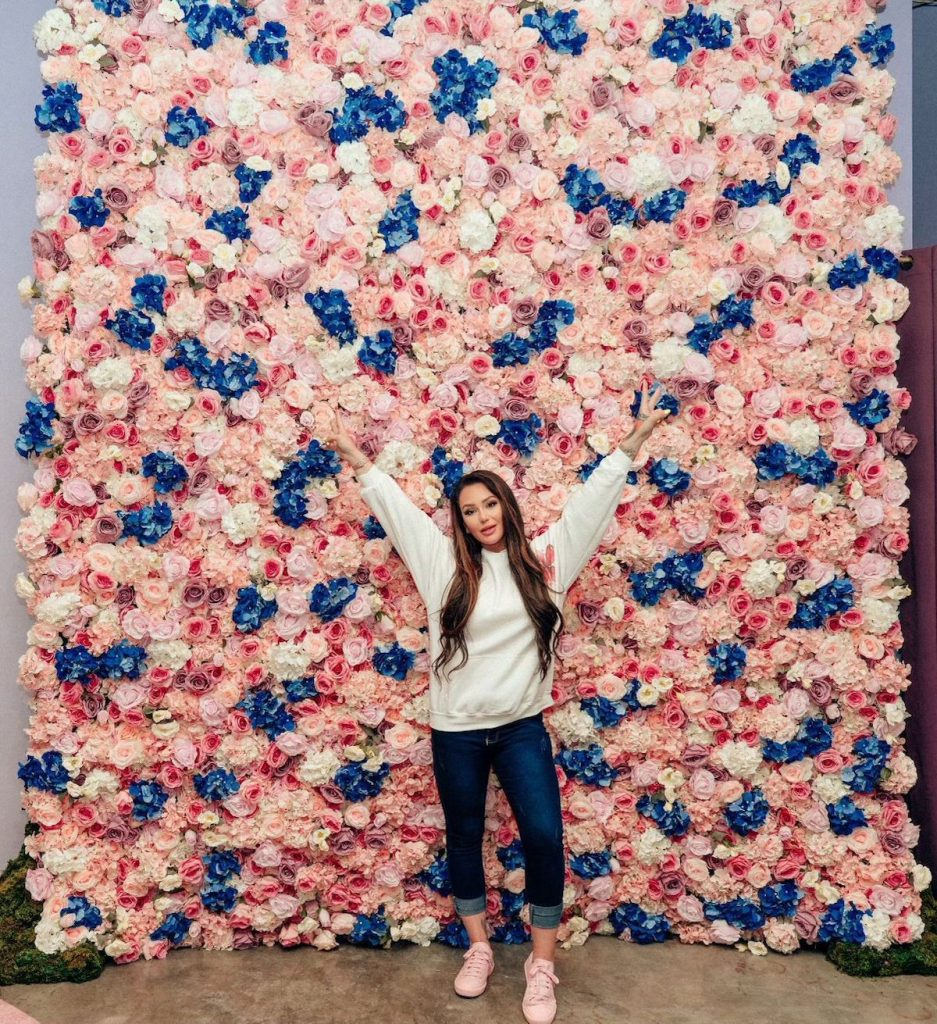Jenni 'JWoww' Farley at the grand opening of her Heavenly Flower store in the American Dream Mall