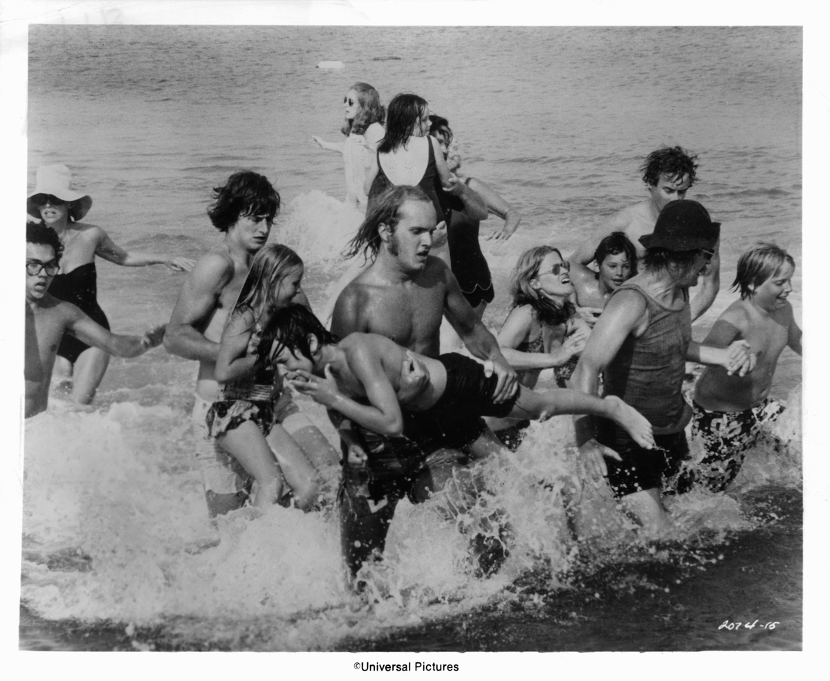 Extras on the set of the 1975 movie Jaws