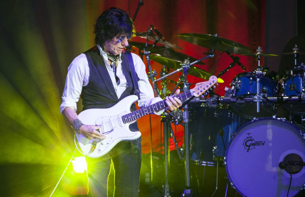 Jeff Beck on stage performing