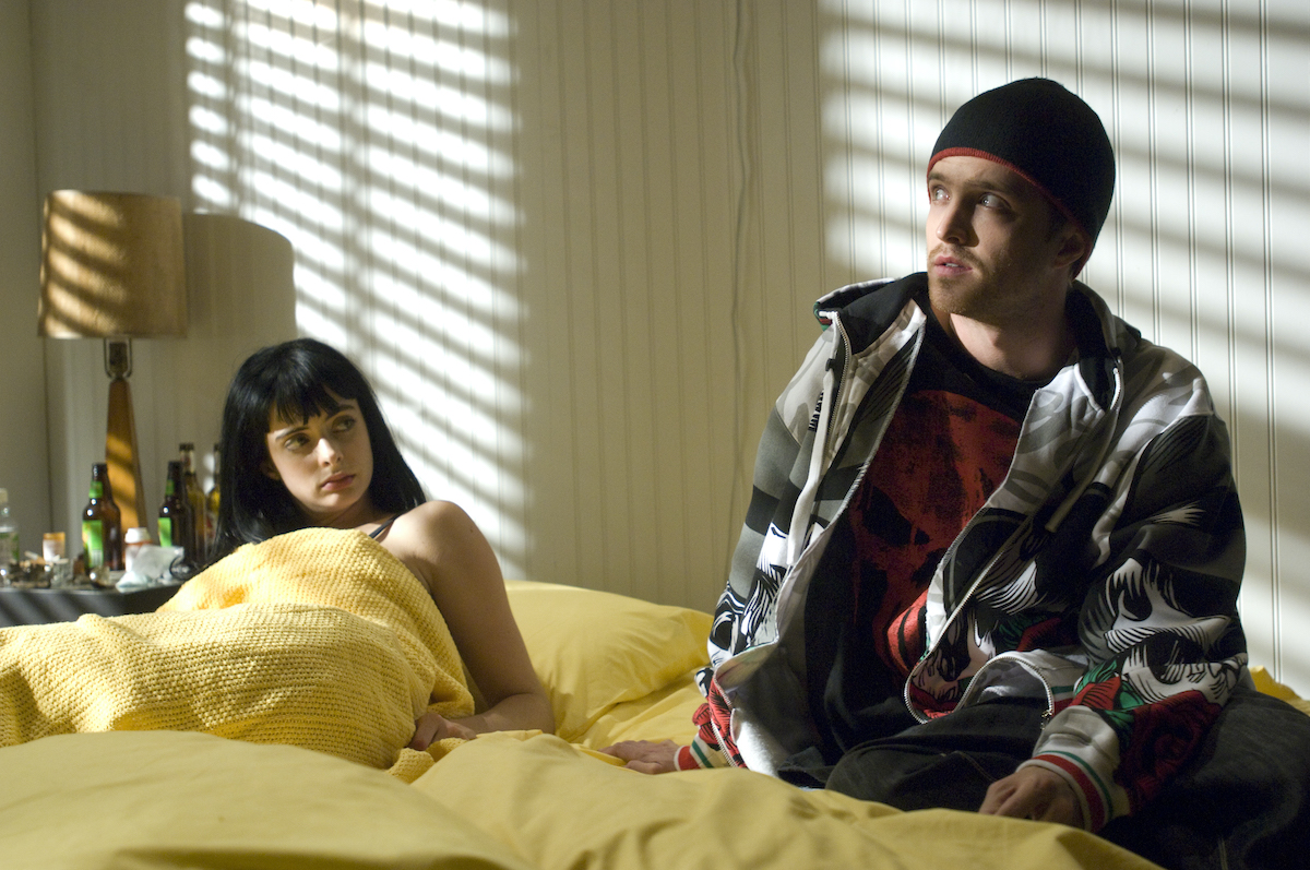 Jane and Jesse film an episode on Breaking Bad