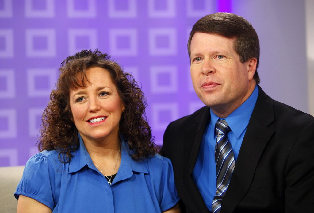 Michelle Duggar and Jim Bob Duggar are interviewed on 'Today' in an undated photo