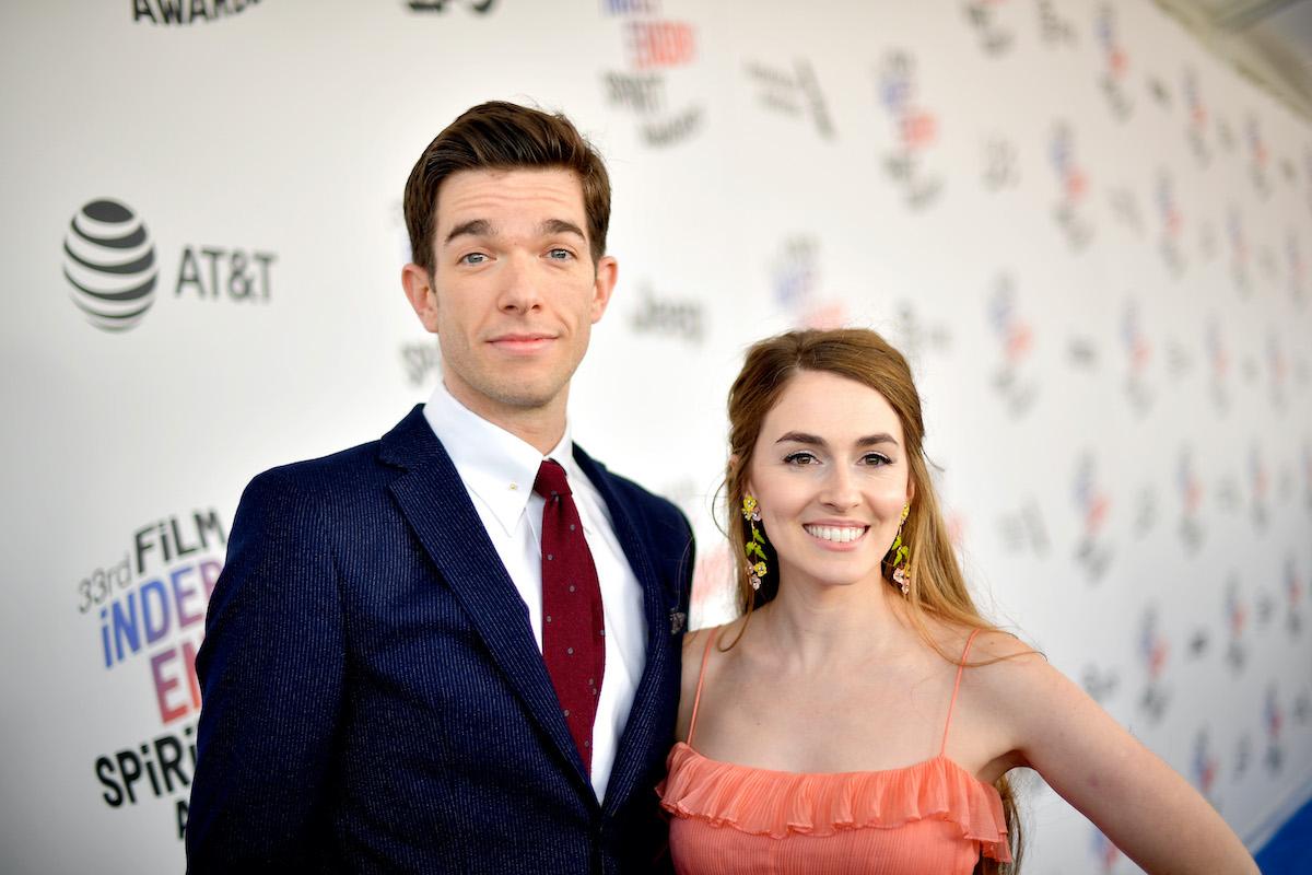 John Mulaney and Anna Marie Tendler attend the 2018 Film Independent Spirit Awards