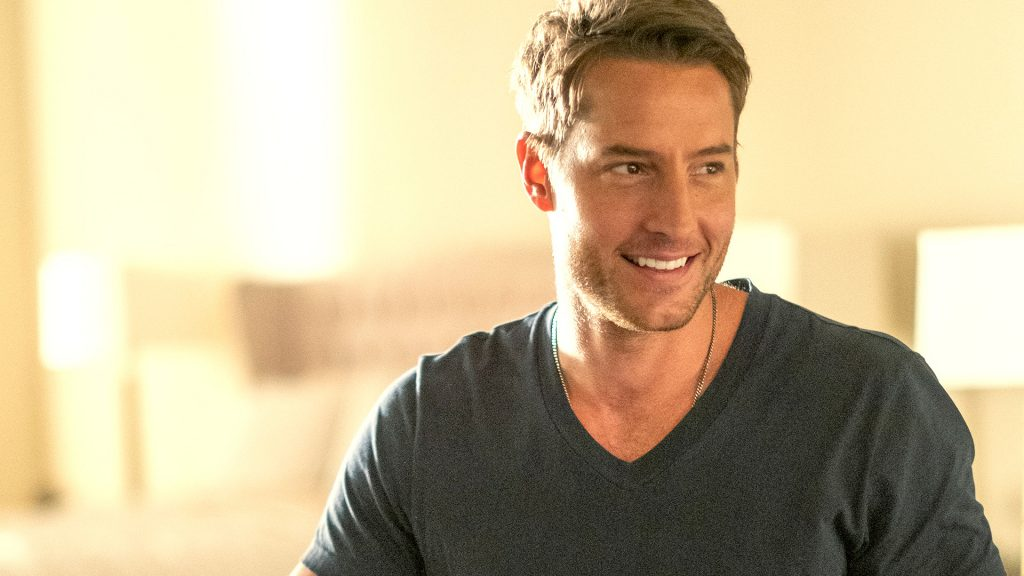 Justin Hartley as Kevin smiles at someone in 'This Is Us' Season 5 Episode 16
