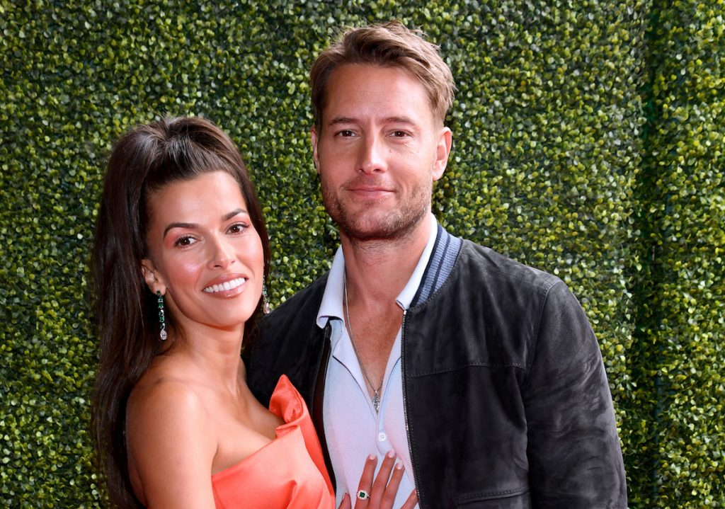 Sofia Pernas and Justin Hartley attend the 2021 MTV Movie & TV Awards at the Hollywood Palladium on May 16, 2021 in Los Angeles, California.
