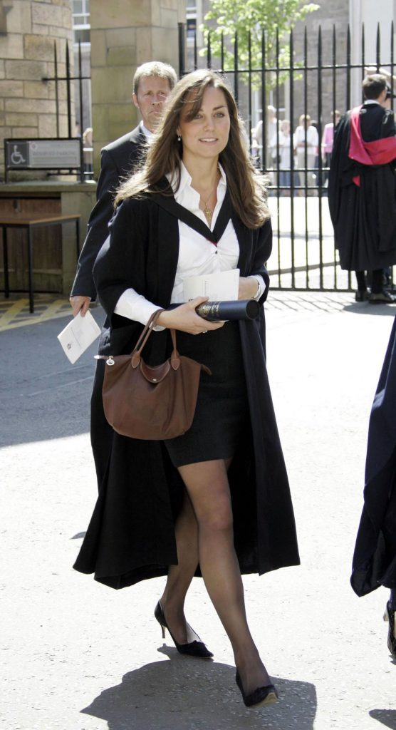 Kate Middleton in graduation outfit at University of St. Andrews