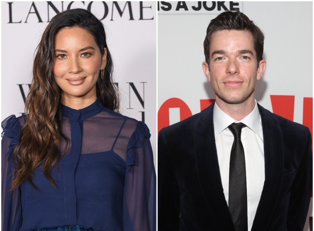 (L): Olivia Munn attends the Vanity Fair and Lancôme Women in Hollywood celebration, (R): John Mulaney stopping for photos at the John Mulaney & The Sack Lunch Bunch NY special screening