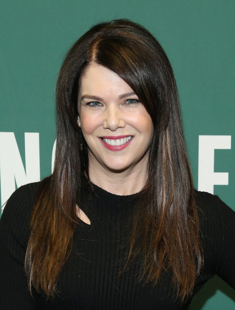 Lauren Graham poses for photos at Barnes & Noble in Union Square during a press tour for her book 'Talking As Fast as I Can'