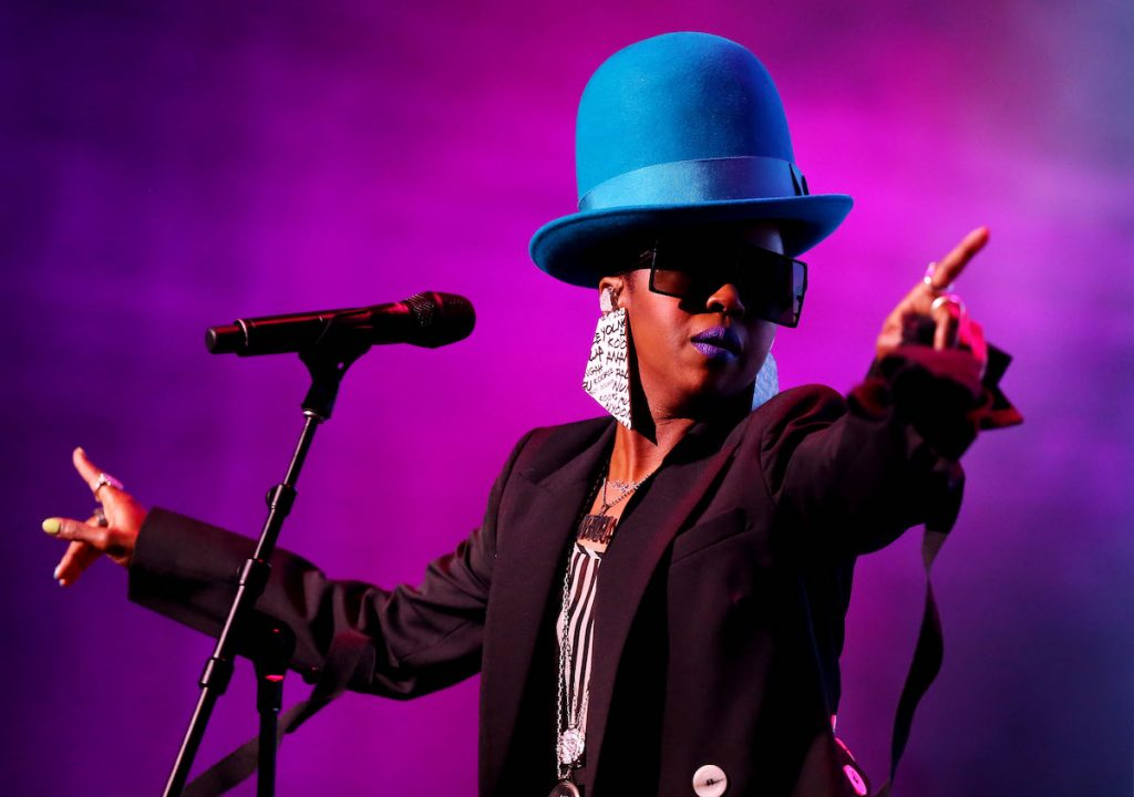 Lauryn Hill performs at Qudos Bank Arena on February 07, 2019 in Sydney, Australia.