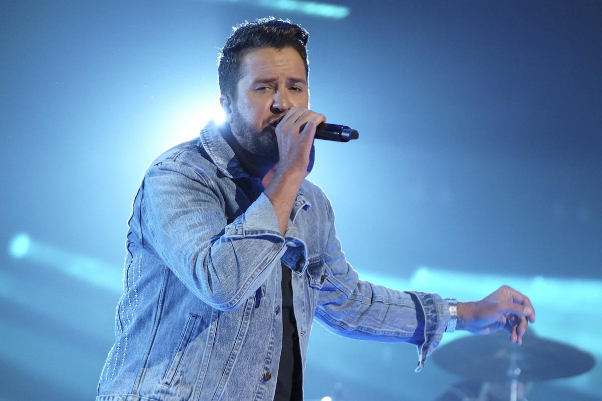 Luke Bryan performs on American Idol