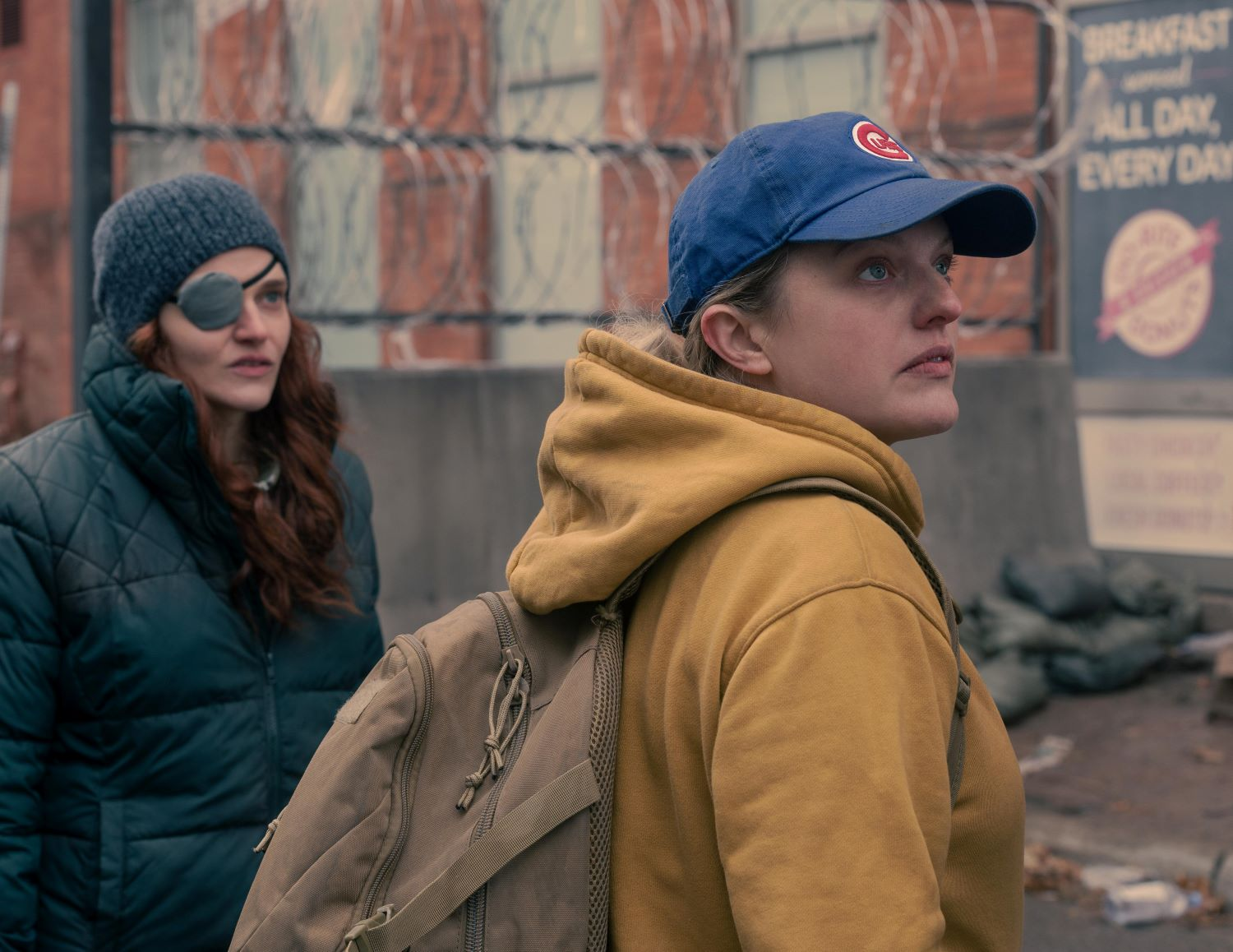 Madeline Brewer and Elisabeth Moss in 'The Handmaid's Tale'