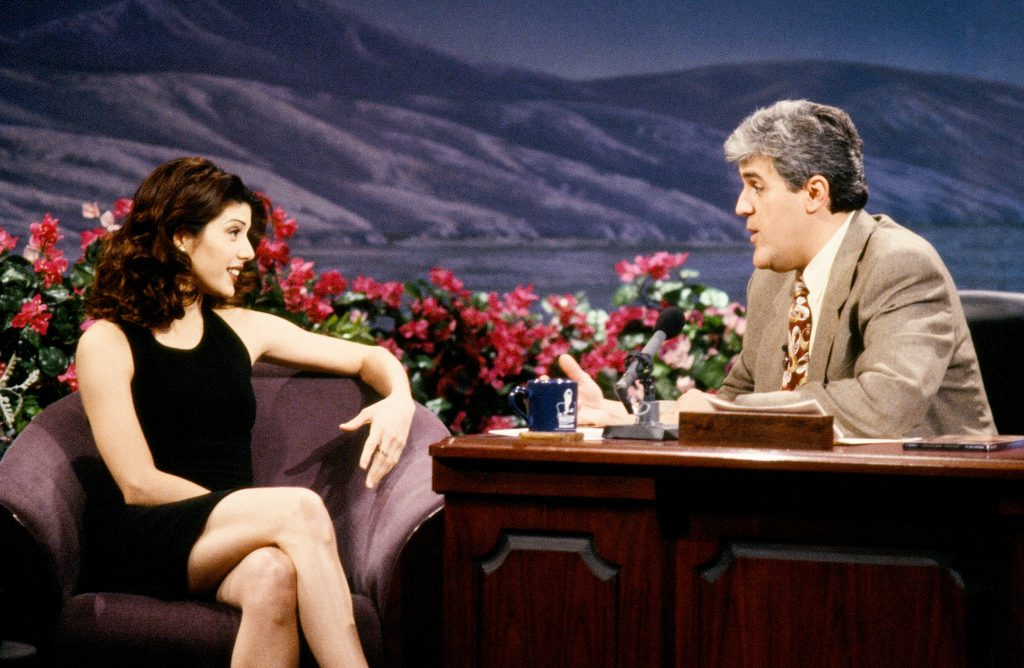 Marisa Tomei sits down with Jay Leno on 'The Tonight Show with Jay Leno' in 1993