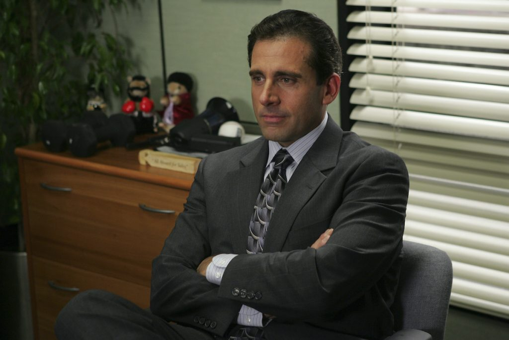 Steve Carell as Michael Scott in 'The Office,' a show about a fictional documentary