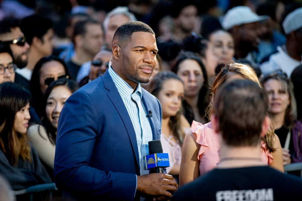 Former Giants star and 'GMA' co-anchor Michael Strahan.