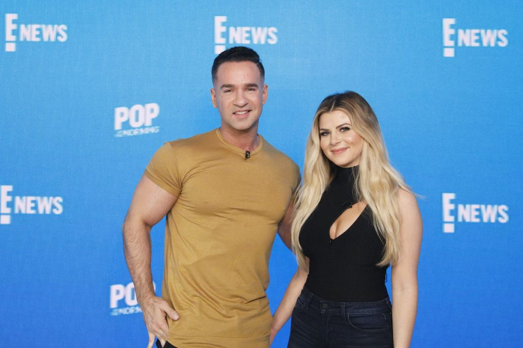 Mike 'The Situation' and Lauren Sorrentino pose for a photo; the two are now parents of Romeo Reign Sorrentino