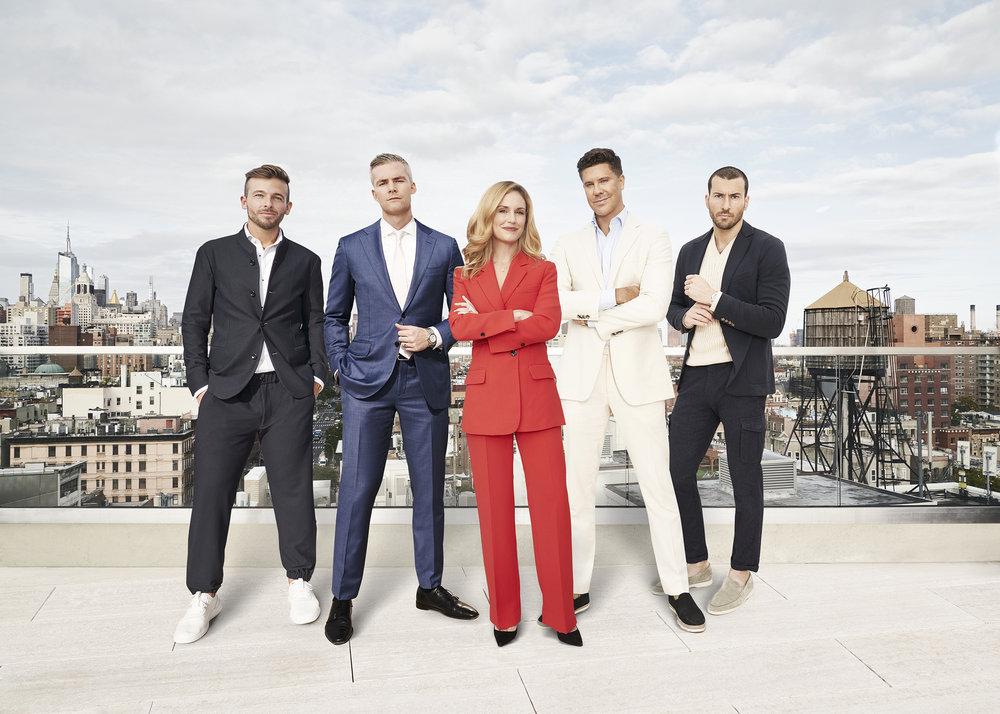 Tyler Whitman, Ryan Serhant, Kirsten Jordan, Fredrik Eklund, Steve Gold from Million Dollar Listing New York Season 9