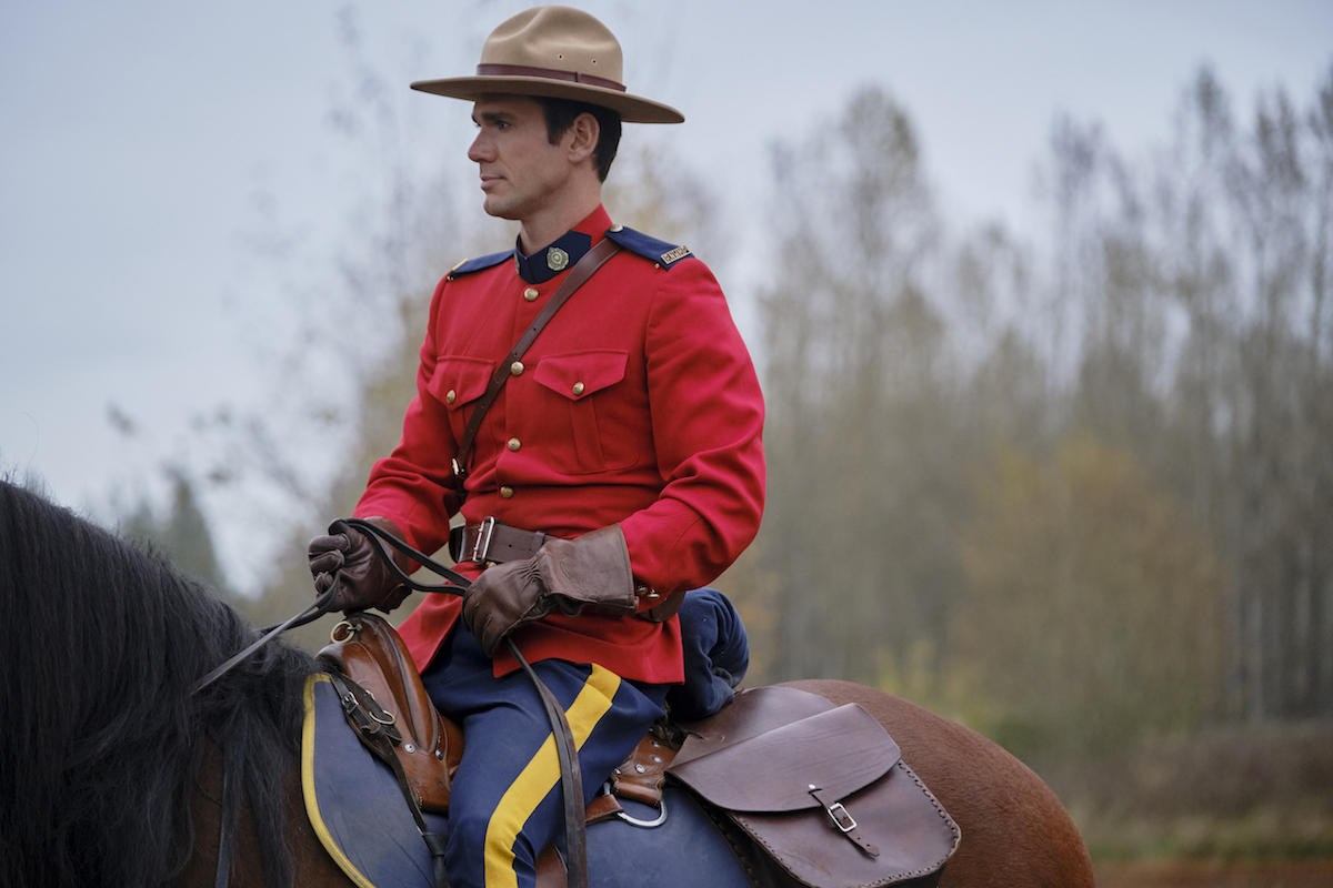 Nathan riding a horse in When Calls the Heart