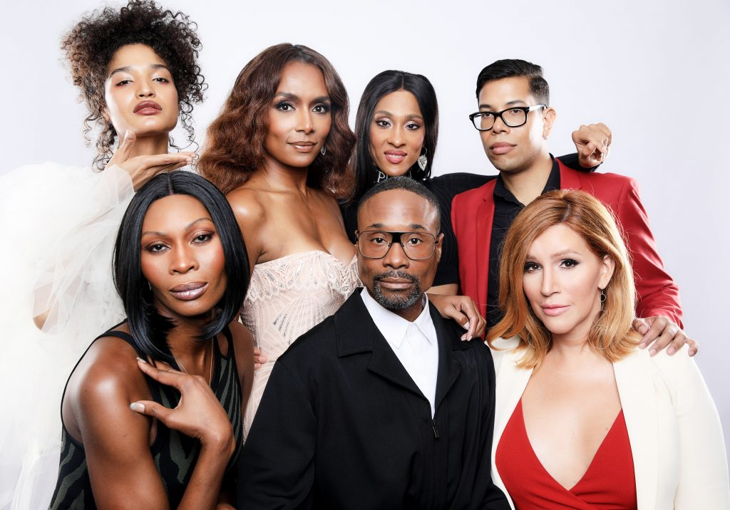 Indya Moore, Janet Mock, Mj Rodriguez, Steven Canals, Dominique Jackson, Billy Porter, and Our Lady J of FX's 'Pose'