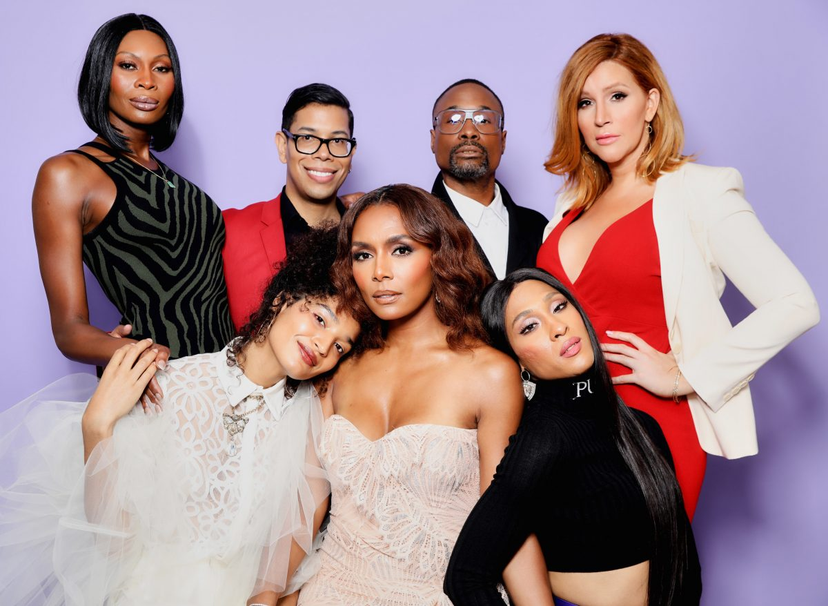'Pose' showrunner Steven Canals with Dominique Jackson, Billy Porter, Our Lady J, Indya Moore, Janet Mock, and MJ Rodriguez at the Critics Choice Award.
