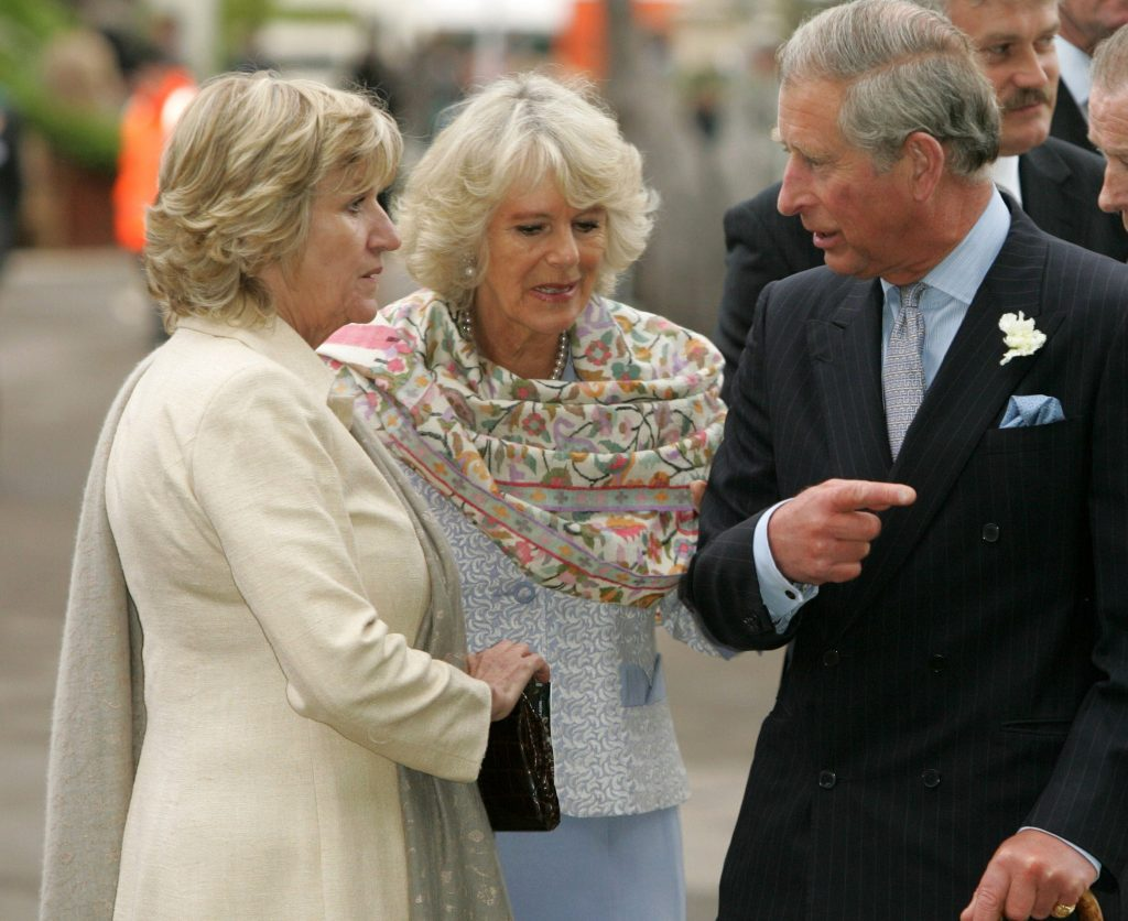 Prince Charles, Camilla Parker Bowles, and the duchess's sister, Annabel Elliot, attend the Chelsea Flower Show