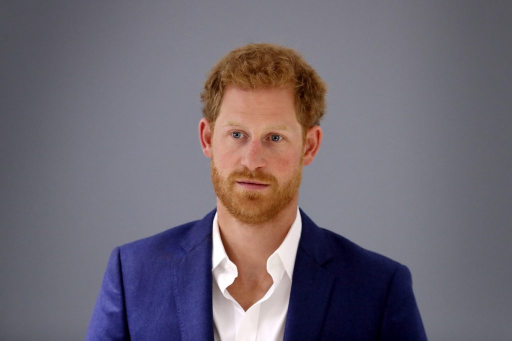 Prince Harry in a blue blaxer