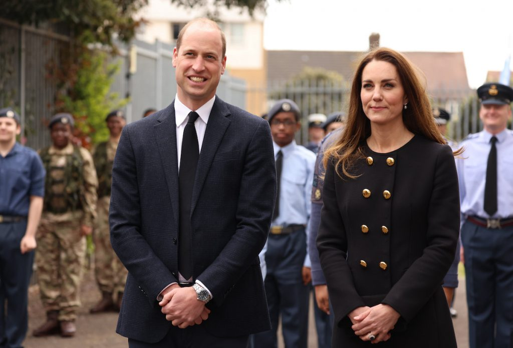 The Duke and Duchess of Cambridge dressed in black