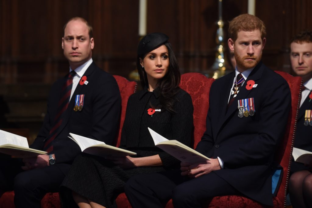 Prince William, Meghan Markle, and Prince Harry
