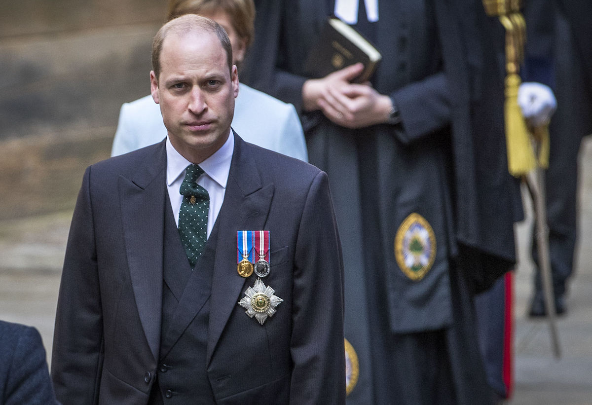 Prince William arrives to give a speech at the General Assembly of the Church of Scotland in 2021