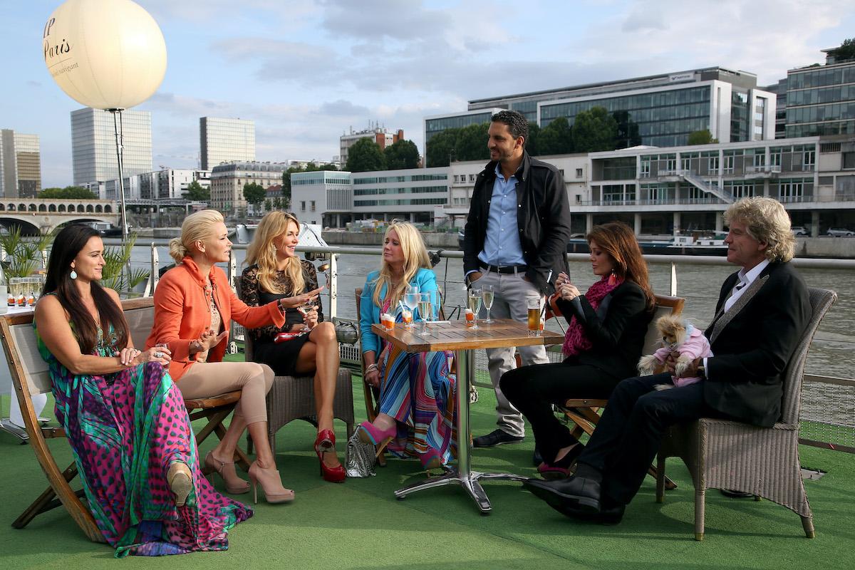 The Real Housewives of Beverly Hills visit Paris, France. Kyle Richards, Yolanda Foster, Brandi Glanville, Kim Richards, Mauricio Umansky, Lisa Vanderpump, Ken Todd