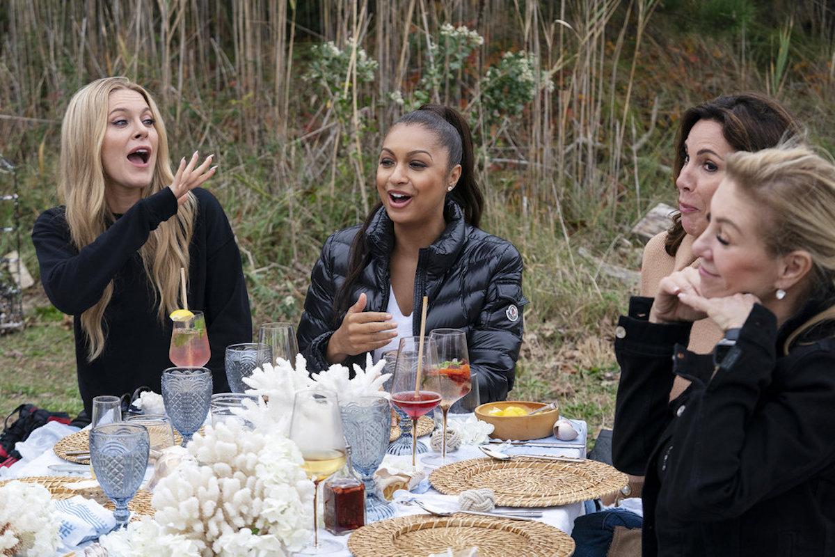 Leah McSweeney, Eboni K. Williams, Luann de Lesseps, Ramona Singer having lunch on RHONY