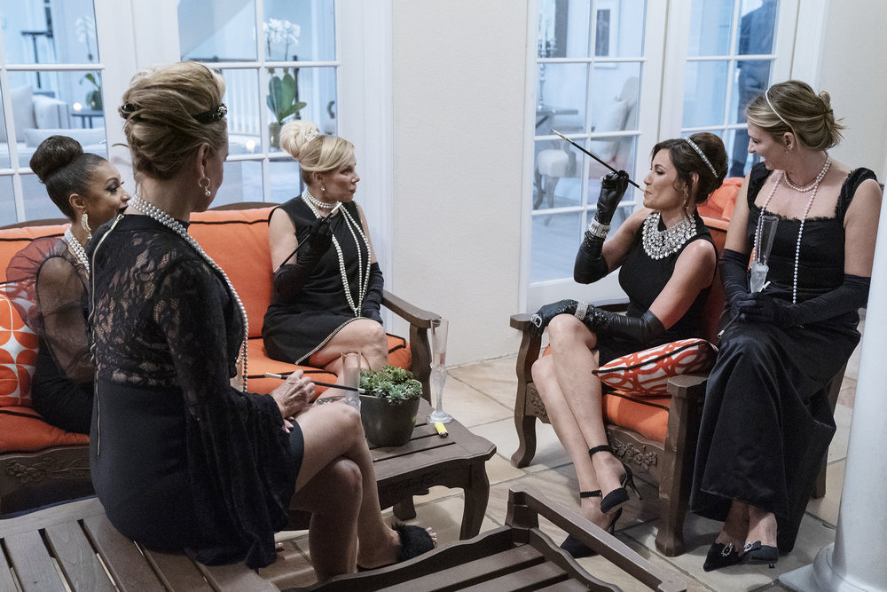 Eboni K. Williams, Ramona Singer, Luann de Lesseps, Heather Thomson party in the Hamptons on RHONY