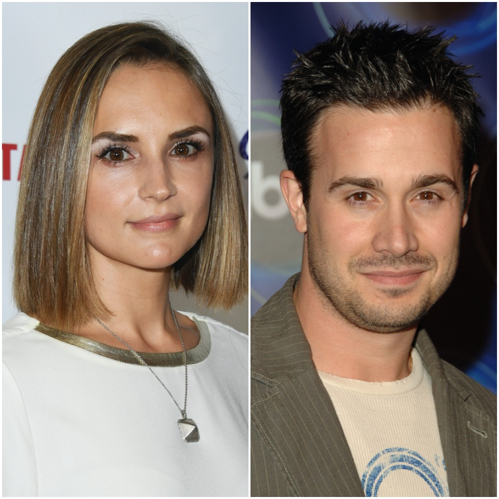 Rachael Leigh Cook and Freddie Prinze Jr. in a photo collage