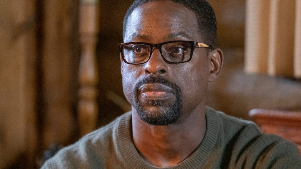 Sterling K. Brown as Randall at Kevin's bachelor party in 'This Is Us' Season 5 Episode 15, 'Jerry 2.0'