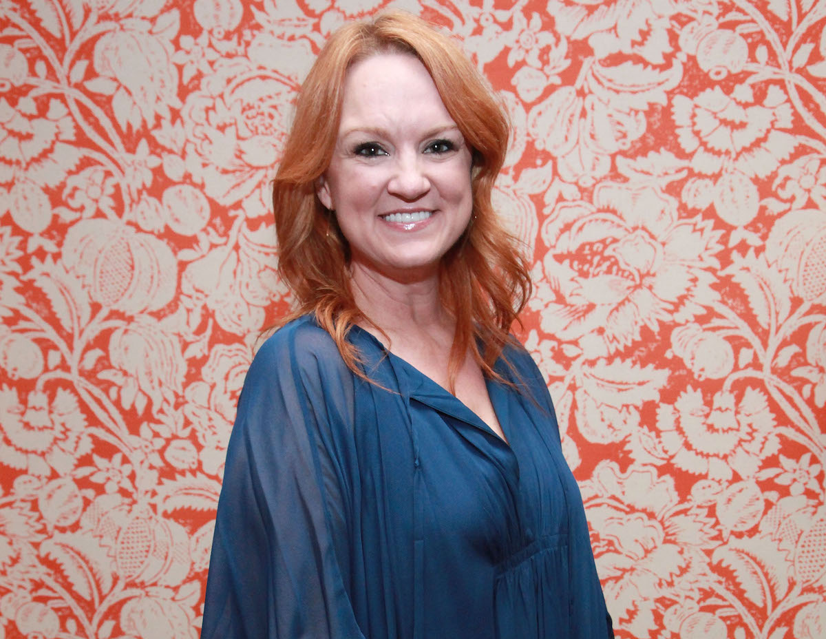Ree Drummond in a blue blouse
