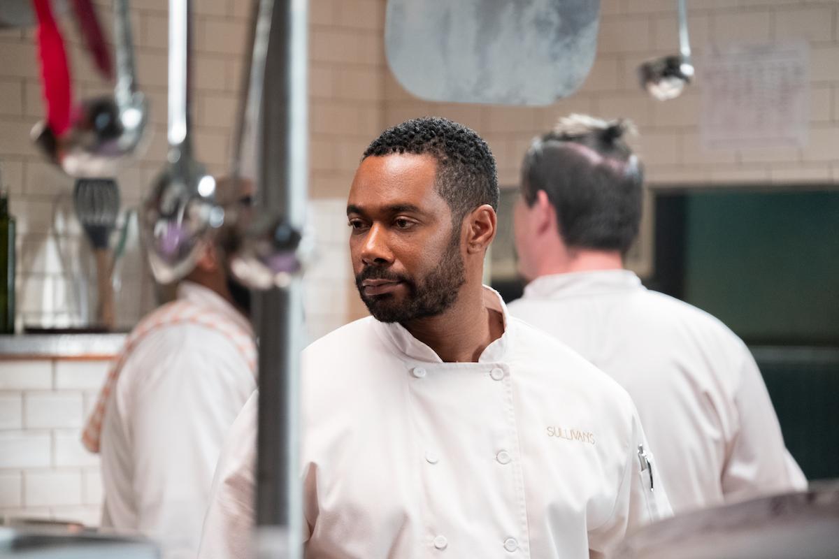 Erik in the restaurant kitchen in Sweet Magnolias