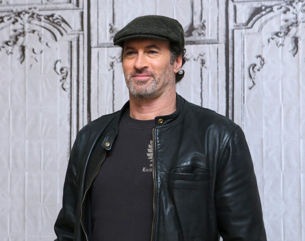Scott Patterson poses for a photograph after stopping by AOL Headquarters in New York City