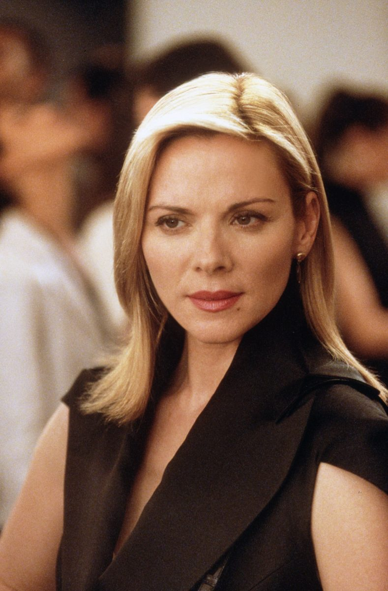 Kim Cattrall poses during a scene in 'Sex and the City'