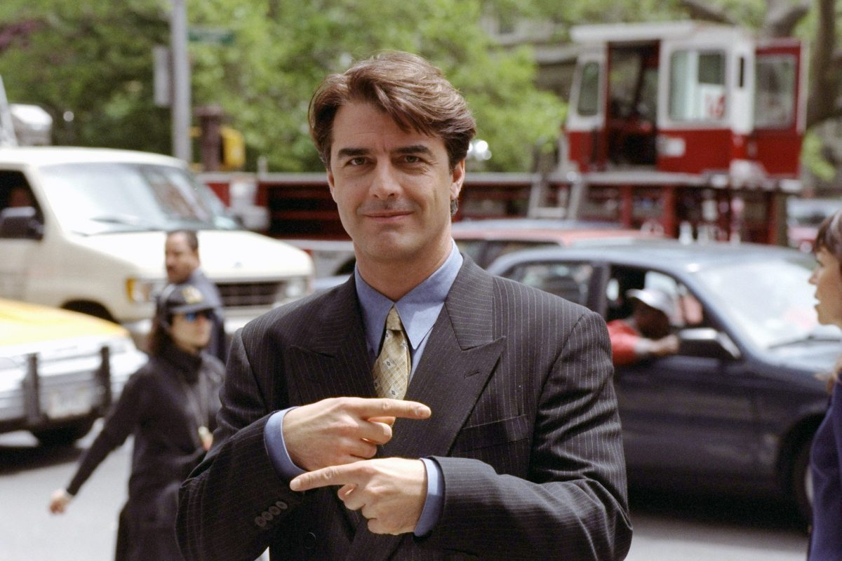 Chris Noth as Mr. Big poses for a photo on Broadway while filming 'Sex and the CIty: The Movie'