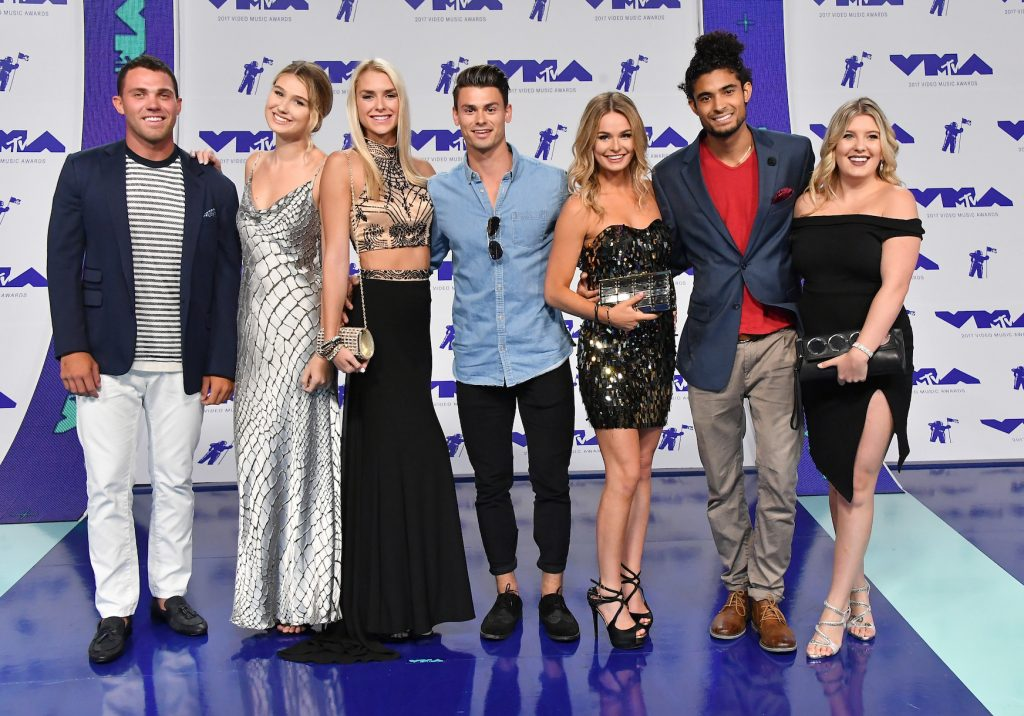 The 'Siesta Key' cast dressed up for the 2017 MTV Video Music Awards