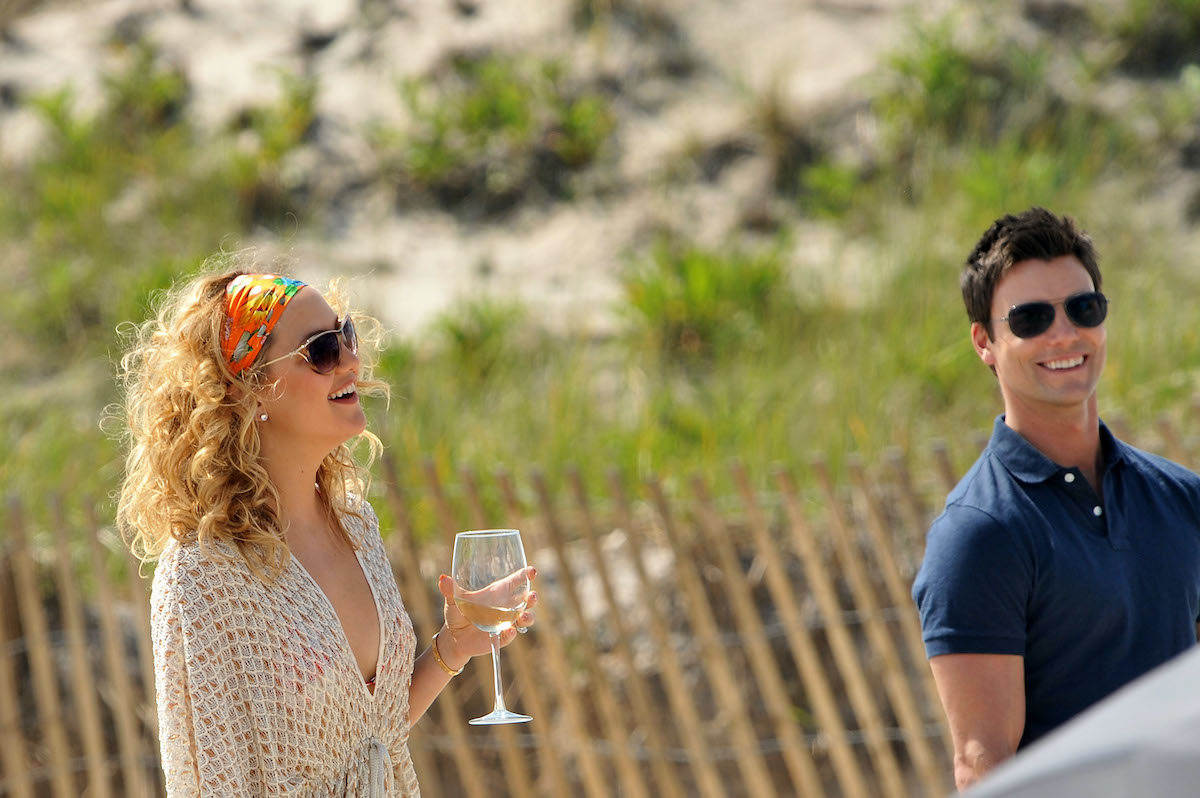 Kate Hudson and Colin Egglesfield on set of Something Borrowed