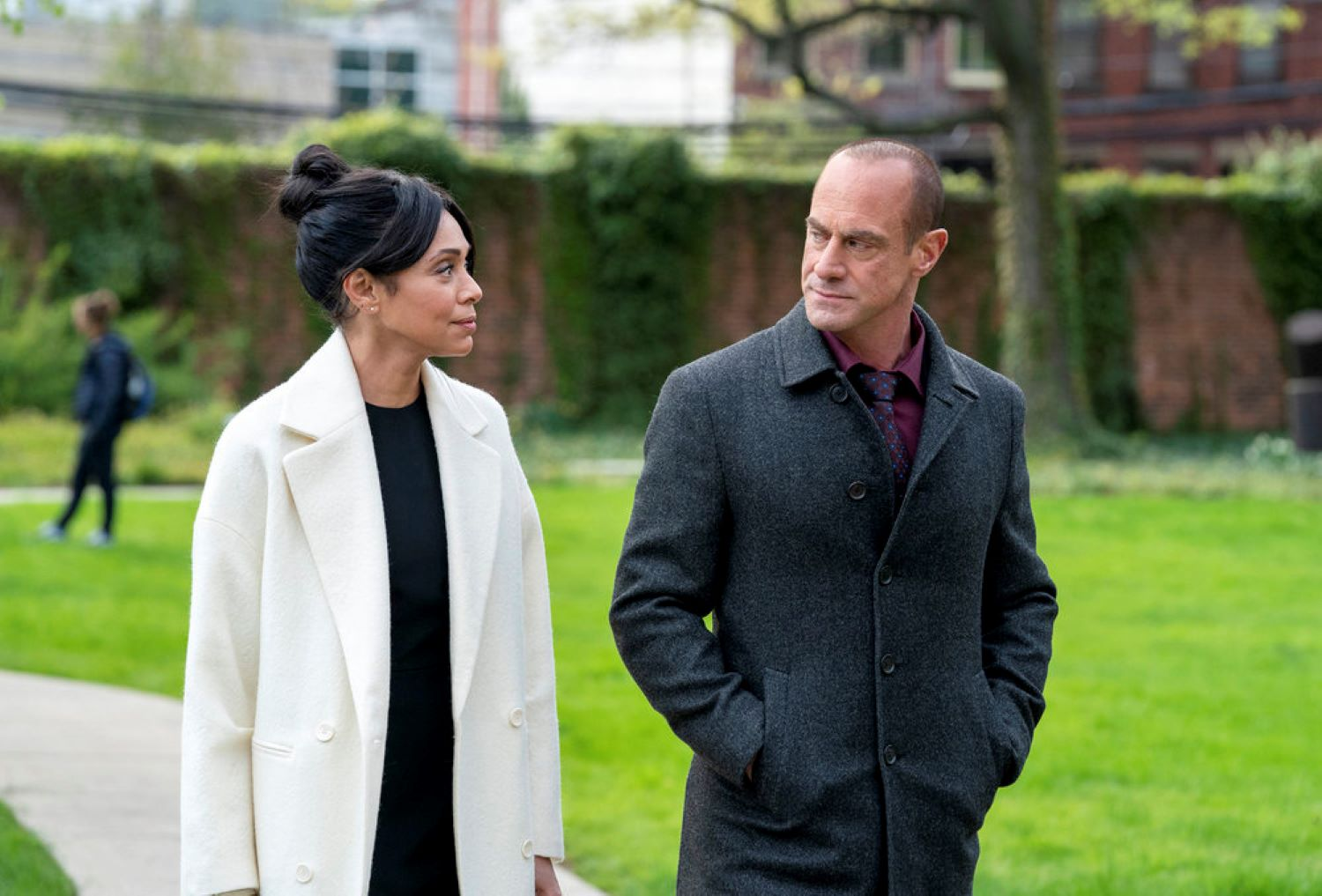 Tamara Taylor and Christopher Meloni in 'Law & Order: Organized Crime'