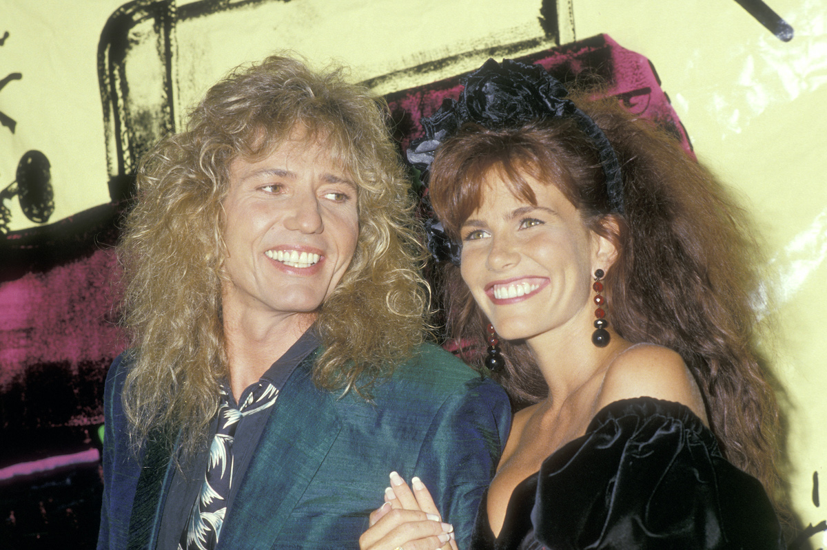 Tawny Kitaen attends the MTV Video Music Awards in 1988 with Dave Coverdale of Whitesnake